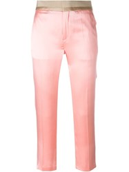 Haider Ackermann Cropped Trousers Pink And Purple