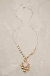 Anthropologie Montreux Bauble Necklace Gold