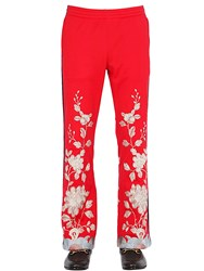 Gucci Floral Embroidered Techno Jersey Pants