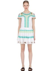 Temperley London Embroidered Cotton Muslin Dress