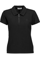 Opening Ceremony Torch Cotton Blend Pique Polo Shirt Black