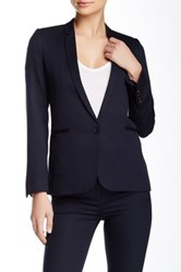 The Kooples Wool Blend Blazer Jacket Blue