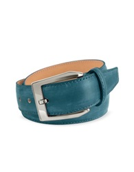Pakerson Men's Petrol Blue Hand Painted Italian Leather Belt
