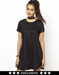 Motel Suki T Shirt Dress With Dolphin Hem