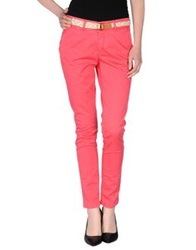 Franklin And Marshall Casual Pants Coral