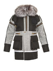 Astrid Andersen Fox Fur Trimmed Detachable Sleeves Parka