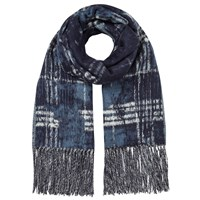 East Modern Check Scarf Teal