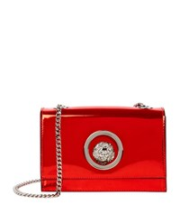 Versus By Versace Versus Versace Mini Chain Lion Shoulder Bag Female Metallic Red