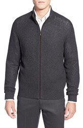 Men's Toscano Mock Neck Full Zip Cardigan