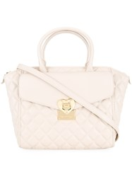 Love Moschino Quilted Tote Nude And Neutrals