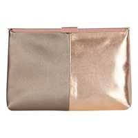 Coast Maisy Colour Block Clutch Bag Rose Gold