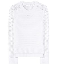 Rag And Bone Annie Open Knit Cotton Sweater White