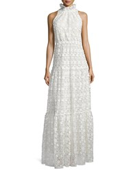 Erin Fetherston Sleeveless High Neck Lace Gown Ivory Women's