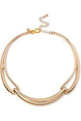 Kenneth Jay Lane Gold Tone Choker