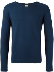 Massimo Alba Boat Neck Jumper Blue