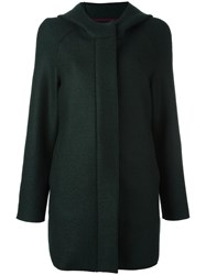 Harris Wharf London Hooded Coat Green
