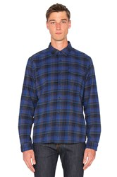 Patagonia Lightweight Fjord Flannel Shirt Blue