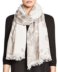 Fraas Embroidered Paisley Scarf Taupe