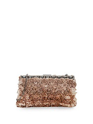 Valentino Rosette And Rhinestone Evening Bag Taupe