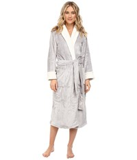 N By Natori Cashmere Fleece Robe Silver Women's Robe
