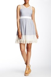 Ryu Sleeveless Lace Dress Blue