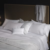 La Perla Nervures Duvet Cover Super King White And Grey