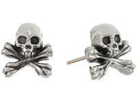 King Baby Studio Skull And Crossbones Post Earrings