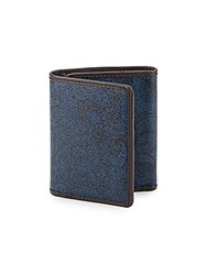 Robert Graham Paisley Tri Fold Wallet Blue