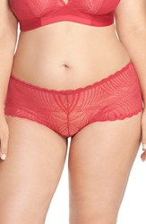 Cosabella Plus Size Women's 'Minoa' Low Rise Boyshorts Claret Red
