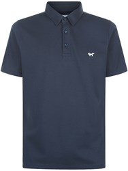 Wolsey Plated Pique Polo Navy