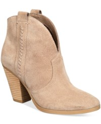 Report Doman Western Ankle Booties Women's Shoes Taupe