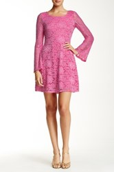 Alexia Admor Bell Sleeve A Line Lace Dress Pink