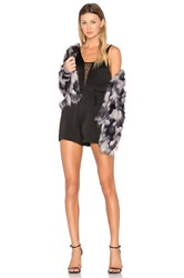 Lover Whisper Romper Black