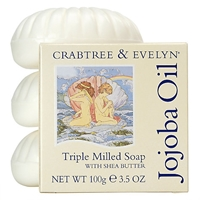 Crabtree And Evelyn Jojoba Oil Triple Milled Soap 3 X 100G