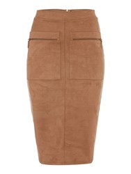 Therapy Suede Skirt Tan