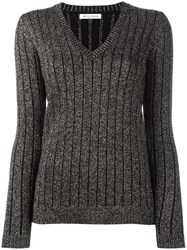 Bella Freud 'Sparkle' Ribbed Jumper Black