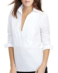 Ralph Lauren Pleated Tuxedo Shirt White