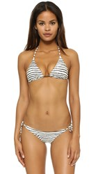 Vix Swimwear Zebra Triangle Bikini Top Black White