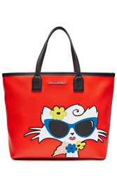 Karl Lagerfeld Choupette On The Beach Pvc Shopper Red