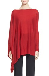 Donna Karan Women's Collection Featherweight Cashmere Poncho Top Lacquer