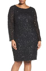 Adrianna Papell Plus Size Women's Embellished Scoop Back Cocktail Dress