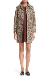 Women's A.P.C. 'Soho' Leopard Print Mac Trench Coat
