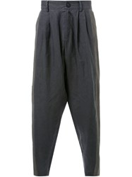 Isabel Benenato Drop Crotch Trousers Grey
