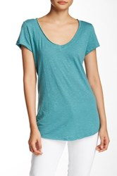 14Th And Union Raw Edge V Neck Tee Green