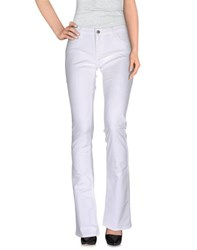 Peacock Blue Trousers Casual Trousers Women White