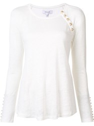 Derek Lam 10 Crosby Button Detailing Flared T Shirt White