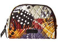 Vera Bradley Medium Zip Cosmetic Painted Feathers Cosmetic Case Multi