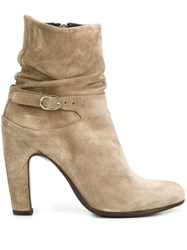 Officine Creative Slouch Ankle Boots Nude Neutrals
