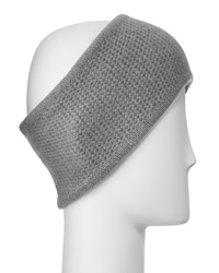 Portolano Cashmere Honeycomb Headband Light Heather Gray