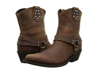 Dingo Drop It Low Dark Brown Oiled Women's Boots